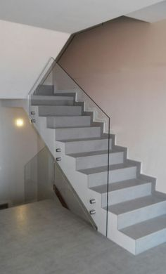 Home Stairs Design, House Design, Types Of Stairs, Monochromatic Room, Dressing Table Design, House Staircase, Glass Stairs, Steel Stairs, Stair Decor