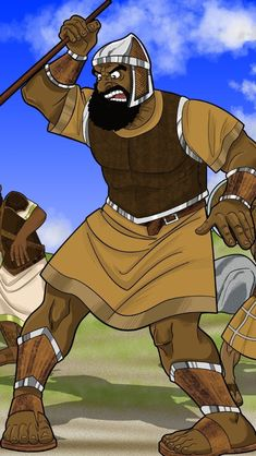 Goliath, the giant from Gath! Preschool Bible, Bible Activities, Bible Games, Bible Stories For Kids, Bible Lessons For Kids, Bible Cartoon, Facing The Giants, Bible Object Lessons, Toddler Class