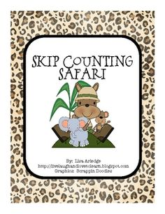 Skip counting safari math station activity allows students to practice skip counting by two, three, five, and ten.  Students use a dry erase marker...