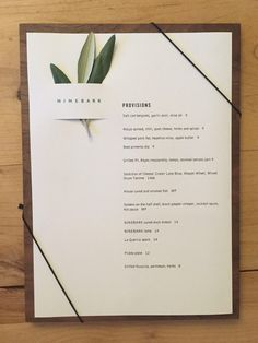 NINEBARK menu - Google Search