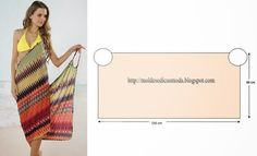 Womens Summer Bikini Swimwear Cover Up Beach Dress Diy Clothing, Sewing Clothes, Dress Sewing Patterns, Clothing Patterns, Fabric Sewing, Diy Fashion, Ideias Fashion, Diy Kleidung, Creation Couture