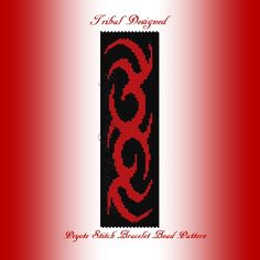 Would make an excellent cuff for either a man or a woman!  THIS PDF Bead Pattern INCLUDES THE FOLLOWING:  1. A bead legend (bead numbers and colors needed) 2. The pattern design 3. A large, detailed,