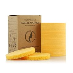 Appearus Compressed Cellulose Facial Cleansing Sponges Natural 100 Count *** Click image to review more details.