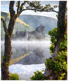 Best Of Scotland, Scotland Castles, Foggy Morning, Peace On Earth, Mirror Image, Belle Photo, Waterfall, Mountains, World