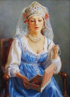 Vladislav Nagornov - Russian girl in costume