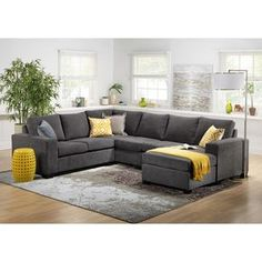 Comfortable Couches Living Room Furniture fortable Sectionals sofa for Elegant Living Elegant Living Room, Cozy Living Rooms, Living Room Grey, Living Area, Living Room Sectional, Living Room Furniture, Living Room Decor, U Shaped Couch Living Room, 3 Piece Sectional Sofa