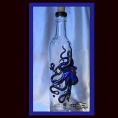 The Blue Beasty Kraken Flask with Swarovski Crystal by Elstwhen, $299.00