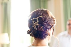#hairstyles   Read More: http://www.stylemepretty.com/destination-weddings/2014/04/08/romantic-british-wedding-at-brocket-hall/