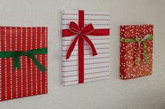 Easy and crafty way to decorate for Christmas....wrap the pictures already on your wall. Smart