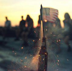 American Summer!  Bottle rockets and beer bottles!!