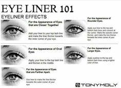 Corrective eyeliner techniques