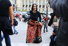 #StreetStyle: Paris Fashion Week Spring 2015 - Tiffany Hsu in Peter Pilotto skirt
