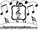 Saias Wrappers para Cupcakes Notas Musicais