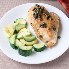 Chicken Piccata - Chicken breast with a lemon and caper sauce.