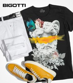 The white trousers - definitely a summer staple piece. They bring a fresh, airy feel to your look and go with almost anything. www.bigotti.eu #summerstyle #summerclothing #summerstaples #mensfashion #menswear #mensstyle #ootdmen #styleoftheday #styleinspo #whitetrousers Mens Attire, White Trousers, Stylish Men, Summer Vibes, Air Jordans, Summer Outfits, Men's Fashion, Bring It On, Sneakers Nike