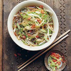 Mung Bean Vegetable Noodle Soup | sheerluxe.com Bean Recipes, Wine Recipes, Vegetarian Recipes, Healthy Recipes, Vegetable Noodle Soup, Beans Vegetable, A Food, Good Food, Mung Bean
