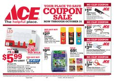 Ace Hardware Coupon Sale October 1 - 31, 2016 - http://www.olcatalog.com/home-garden/ace-hardware-sale-ad.html