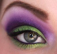 purple and green...using sugarpill