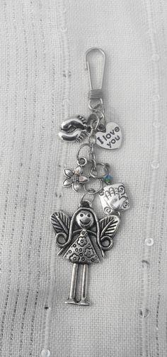 purse charm mothers day novelty swarovski crystal. $10.00, via Etsy.