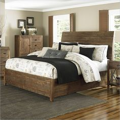Magnussen River Ridge Wood Island Bed in Natural - B2375-XX-BED