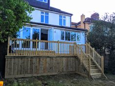 Alongside our fences we can also build decking areas to enjoy more of your garden. This one was a raised deck with staircase and storage area underneath. Deck Storage, Storage Area, Raised Deck, Decking Area, Garden Fencing, Fences, Bristol, Garden Ideas, Backyard
