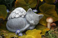 Angel Cat Statue - Pet Memorial Marker. $24.99, via Etsy.