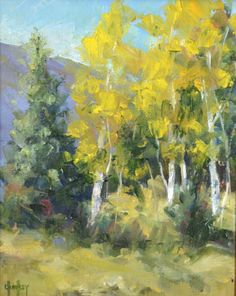 "Daily Painters Of Colorado: Impressionism Colorado Landscape Oil Painting ""Up Front"" by Colorado Landscape Artist Barbara Churchley"