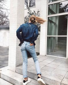DAY 1 Sneakers: Alexander McQueen here, Tights: Wolford, Leather Skirt: Zara, Knit turtlekneck: Sabo Skirt, Blazer: Iceberg, Necklace: Chanel, bag: Chanel. DAY 2 Boots: Notabene, Jeans: Levis, Blouse: bzr Bruuns bazar, blazer: Iceberg, Neklaces:Nuit et linette.....