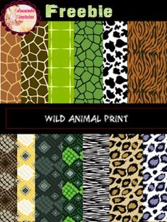 Make the most of your projects with these Wild Animal Prints,Digital Papers.And if you like them, I would really appreciate your possitive feedback.*****************************************************************************Customer Tips: How to get TPT credit to use on future purchases: Please go to your My Purchases page (you may need to login).