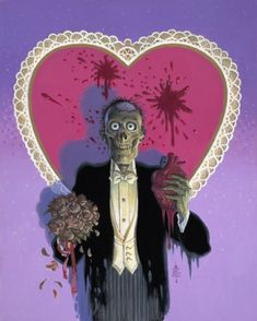 Valentine's Day Zombie Art by William Stout