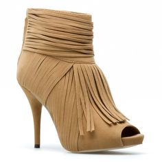 found this on Shoe Dazzle.com This ankle bootie comes in 3 colors, black, nude and purple.