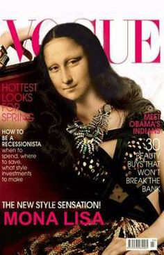 Mona Lisa on the Cover of Vogue, pop art, fashion art.