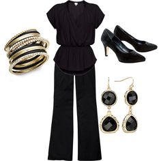 """""""Answer to: I need help with all black work wear."""" by lois-boyce-flack on Polyvore"""