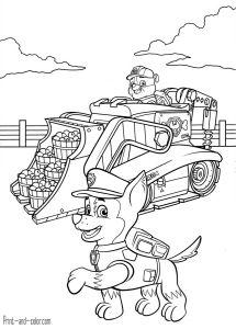 Paw Patrol Coloring Page 3 Jpg 867 215 1200 Pinyar