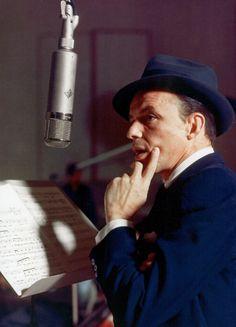 "ladybegood: ""Frank Sinatra records ""Close to You"" at Capitol Records, 1956 """