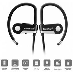 Share and Get It FREE Now | Join Gearbest |   Get YOUR FREE GB Points and Enjoy over 100,000 Top Products,Excelvan C6 Wireless Bluetooth 4.1 Sports Headset  Earphone Headphone Bluetooth Earpiece Sport Running Stereo Earbuds With Microphone Hands-free Call / On-cord Control / English Prompt / Sweat Resista