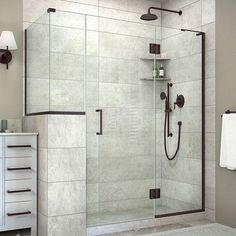 """DreamLine Unidoor-X 59"""" x 30.38"""" x 72"""" Rectangle Hinged Shower Enclosure Finish: Oil Rubbed Bronze"""