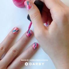 DIY Bold Summer Nail Design #darbysmart #beautytips #beautyhacks #beautytricks #beautytutorial #beauty #nailpolish #nailart #naildiy #naildesign #nailtutorial
