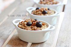 Spiced Blueberry Baked Oatmeal | Vegan Recipe | Terrasoul Superfoods | ThePlantStrongVegan.com