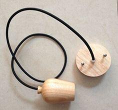 Wooden BareBulb Pendant - Retro Lights - Designer Inspired Lights online shop.