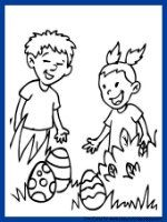 Free coloring pages for Easter and more!  via easy-coloring-pages.com