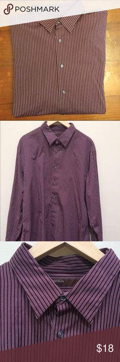 100% Cotton Perry Ellis Striped Designer Shirt 100% Cotton Perry Ellis Striped Designer Shirt Perry Ellis Shirts Casual Button Down Shirts