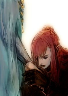 "luaen:  ""Maedhros swearing fealty to Fingon.  """
