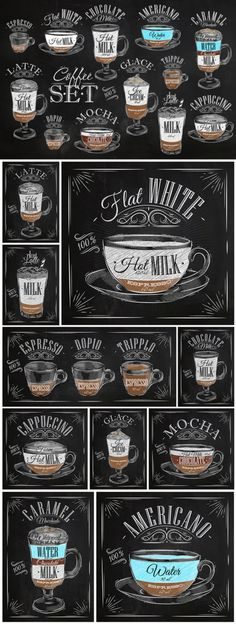 Great ways to make authentic Italian coffee and understand the Italian culture of espresso cappuccino and more! Coffee Art, My Coffee, Coffee Drinks, Coffee Cups, Coffee Menu, Coffee Barista, Coffee Drawing, Coffee Maker, Coffee Signs