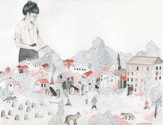 These delicate pieces are by an artist named Sarah Burwash, I went and checked out her site and it is full of these beautiful drawings made up in all forms – maps, patterns, paintings, installations, logos, zines. She is one talented pen wielder.