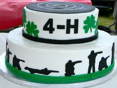 Our kids participate in 4-H Rifle Shooting and I make the cake for the awards picnic every year.