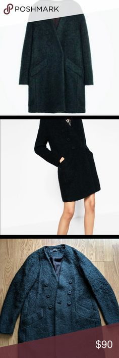 cdc3d7dbf9c3 Zara wool mohair long coat Great condition Zara Jackets   Coats Pea Coats