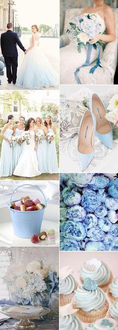 Who needs a 'something blue' when you have a blue wedding theme! #blueweddingideas