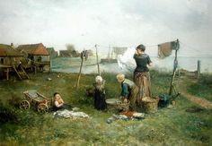 """""""Hanging Up the Washing"""" by Jan Mari Henri Ten Kate"""