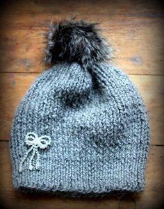a86b05f5ffbd Un bonnet en tricot facile, spécial débutante (patron offert ...